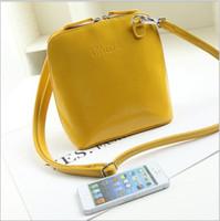 Wholesale Euro America Style Lady Girls Hobo PU Leather Handbag Shoulder Bag Fashion Female Shoulder Bag Mini Shell Bag
