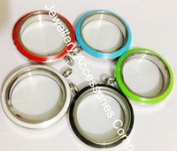 Wholesale 10pcs mixed colors mm Stainless Steel Pink Twist Open screw Enamel Floating Living Lockets