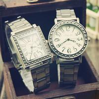 Unisex Round 24 2014 New Arrival, Free Shipping 10 Pcs lot Vintage Antique Metal Band Men Women Lady Fashion Wrist Brand Watch
