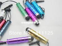 al por mayor el enchufe del auricular de plástico-Más barata Mini de Plástico Stylus Pen Lápiz Táctil Con Auriculares Para iPhone iPad Samsung de Alta Calidad 100pcs/lote Envío Gratuito