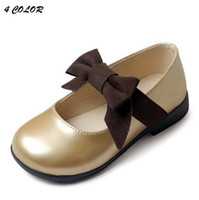 Wholesale new spring summer Children s girls babys fashion pu Baby bow princess casual dress shoes XZ