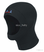 Wholesale Promotion Submersible Caps Shoulder Diving Cap mm mm Thickness For Colder Waters Swimming Caps Scuba Diving Cap