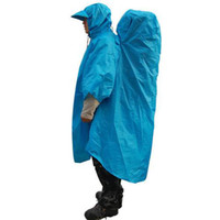 Wholesale Bluefield Outdoor Mountaineering Poncho For l Backpack Rain Cover Raincoat t Polyester Adhesive Processing