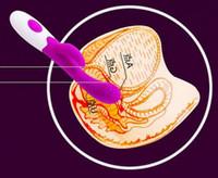 Wholesale 7 speed G spot Vibration Dildos With Clitoris Teaser Stimulator Vibrators Masturbation Sex Toys Adult Products XLYBI