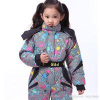 Wholesale 2014 Winter Ski Mountaineering Outdoor Waterproof Windproof Jacket Ski Suit Girls Ski Suit Skiwear Ski Suit Piece Suit Children