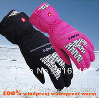 Wholesale Waterproof Winter Ski Gloves Windstopper And Warm Gloves Riding Gloves Water Resistant Gloves Woman Gloves Winter Ski