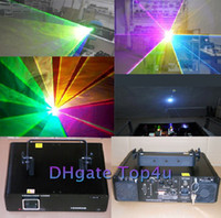 animation laser - 2014 DHL RGB led Animation Stage Laser Light mW mixed white w Projector rgb full color LASER Show ilda kpps Disco Lighting