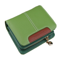 Wholesale 2014 new Zipper Genuin Leather fashion short style Women wallet cards paper money change space multifunction purse handbag