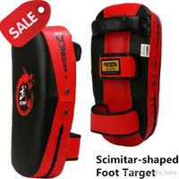 Wholesale Scimitar shaped Taekwondo Karate Muay Thai Kenpo Kick Hand Foot Target Martial Art Wulong Foot Target Curviplanar Boxing Target Foot Target