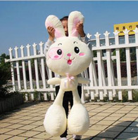 3-4 Years animals pets games - big plush animal toy doll long ear white pink rabbit stuffed toy doll bunny pet for children girl birthday gift valentine item