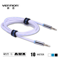 Yes Male-Male Non-Shielded VENTION! 10m white color audio cable for PC MP3 DVD CD Player 3.5mm male-male aux audio cable with Gold Plated connector
