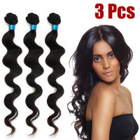 Wholesale Hot Sale Brazilian virgin Hair Extension Body wave quot quot quot quot quot quot quot quot Natural black