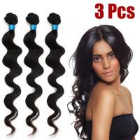 Wholesale Hot Sale Brazilian virgin Hair Extension Body wave quot quot quot quot quot quot quot quot Natural black