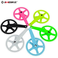 Freewheel Fixed Gear Bikes Sky Blue,White,Pink,Green,Yellow,Black HOT Inbike 44t steel crankset crankset bicycle FREE SHIPPING