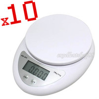 Wholesale 10pcs New Digital Electronic Kitchen Food Diet Weight Blance Scale g kg g