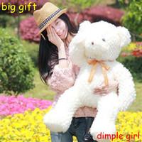 Unisex baby bear video - for sale large size soft toy big stuffed white teddy bear plush doll baby girlfriend birthday gift graduation souvenir children