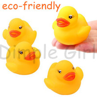 Unisex 3-4 Years Video Games squeaky the educational kawaii animals shape soft baby bath toy mini rubber duck yellow for kids swimming pool funny water gift