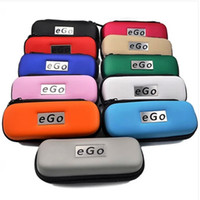 Leather   Best Price Ego Case Ego Leather Bag for Ego-t ego-w Ego-F Electronic Cigarette Carry Bag 10 Colors with Zipper L M S Size DHL