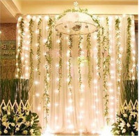 Wholesale 300 LED lights m m Curtain Lights Waterproof Christmas ornament light Flash weddind Colored light Fairy lights Strip Lighting Strips L101