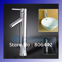 Bathroom Basin Faucets Contemporary Single Handle Modern Chrome Bathroom Vessel Sink Lavatory Basin Faucet Mixer Tap Free Shipping