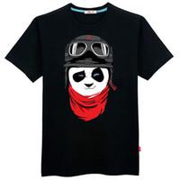 Men Polo Short Sleeve Men's early teen cute panda has large influx of male dress code 6XL fat loose short-sleeved t-shirt