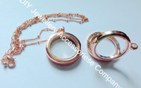 Wholesale 5pcs mm rose gold rhinestone floating locket crystal L stainless steel color locket pendant chains inluded for free