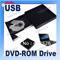 Wholesale USB External Slim Portable Optical DVD ROM Drive For Laptop PC