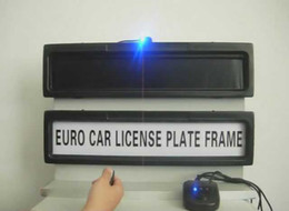 Wholesale the new car licence plate frame personality license plate frame removable cars Curtain Closed Plate mm