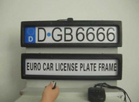 Plastic abs license plate holder - New Arrvial Europe Size Auto Car Licence Plate Holder Licence Cover Stealth License Plate Frame in retail