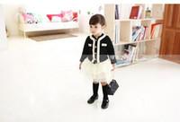 Wholesale New Spring Autumn Children s Baby Girl Mini Fashion Big Brand Star Models Round Neck Long Sleeved Coat Tutu Veil Skirt Two Set