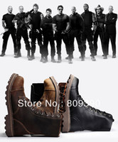 Wholesale Men Women Lover outdooor brown crazy horse cow leather western cowboy desert army combat military boots motorcycle boot