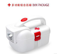 Wholesale Medical first aid kit a flashlight home kit first aid box medicine box