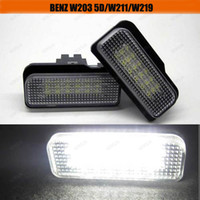 NS-P016 Mercedes-Benz LED Free shipping 18 LED ERROR FREE LICENSE PLATE LIGHT FOR MERCEDES BENZ W219 W211 W203 WAGON