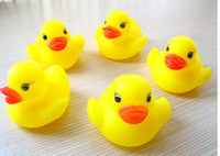 Bath Toys bathing toy - 100pcs Baby Bath Water Toy toys Sounds Yellow Rubber Ducks Kids Bathe Children Swiming Beach Gifts
