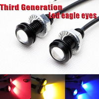 Engine Mounts NS-DL002-B/Y/R/G LED High Power LED eagle eyes 2 X Bolt on Screw LED Mini Eagle Eye Parking Daytime Driving Tail Light Backup DRL Fog Lamp Car Light