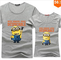 Cheap Despicable me Minions t-shirts tees new casual men t-shirts women t shirt for couples print cute t shirt 100% Cotton N150-1