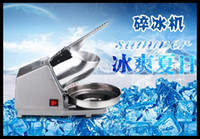 Wholesale DHL Automatic Stainless steel Ice Crusher Home Commercial Electric Ice Crusher Sand Ice Machine