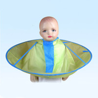 Wholesale baby kid children umbrella hair cutting cape waterproof smooth
