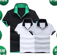 Men Short Sleeve Modal Wholesale new arrival Hot model brand top quality genuine lapel cotton polo casual loose short-sleeve T-shirt M-XXL