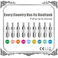 Replaceable 2.5ml Metal 2014 Hottest selling e cig tank dual tank atomizer e cigarette clearomizer wholesale in China free shipping