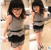 Wholesale baby children new fashion style suits baby kids hot sold new fashion style suits korea fashion style girls elegant suits