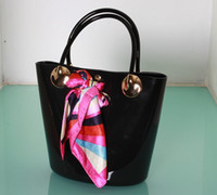 Wholesale 2014 new designer fashion candy bag Satchel Rubber open tote Bag Purse women silicone Handbag plastic bag