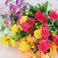 Wholesale High Quality Artificial Carnation Color Silk Flower Floral Handicraft Thank Gift for Mother SH906