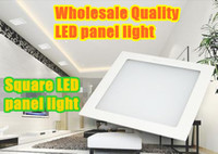 No 110-240V SMD3528 Free shipping 001--Wholesale quality square 6W LED panel light recessed installation 10PCS lot