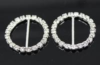 Wholesale Factory Price DIA mm Rhinestone Buckle Round For Wedding invitations Ribbon Sliders DIY