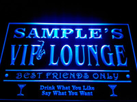 Acrylic b friends - DZ039 b Name Personalized Custom VIP Lounge Best Friends Only Bar Beer Neon Sign