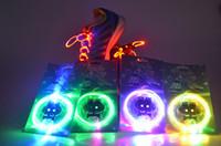 Public Shoelaces Red Wholesale - Latest model LED Flashing shoelace light up shoe Flashing Disco Party Fun Glow Laces Shoes 50pair
