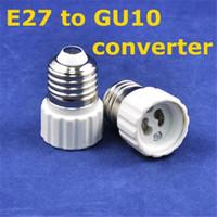 adapter e27 to gu10 - 2015 Limited Lustre E27 Offer Real Plastic Led Aluminium Profile e27 To Gu10 Adapter Converter Base Holder Lamp Bases for Bulb Light