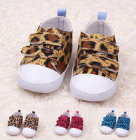 Wholesale HOT SALE Fashion leopard soft bottom baby shoes months Velcro toddler shoes China Walking Shoes baby wear china pair Y