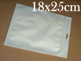 Free shipping White 18x25cm clear Jewelry packaging bag Zippper lock retail plastic poly opp PVC bags for Mobile Phone Accessories